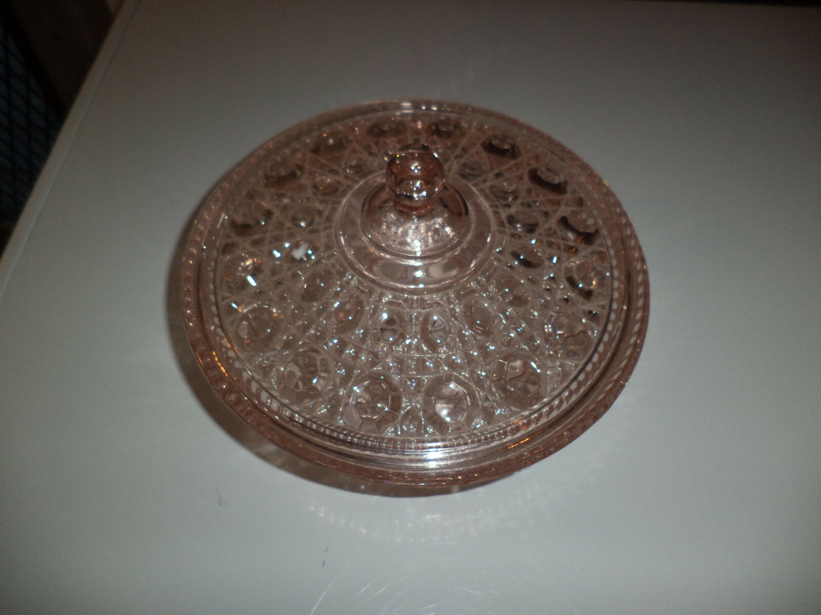 Diamond Cut Indiana Pink Candy Dish