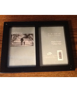 Uniek Black Finish Picture Frame w/ Stand or Wall Mounts for Two 4 x 6 P... - $8.00