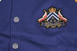 WESC Uomo Blu Medio Damiano Maglia Maglione Cardigan Nwt image 3