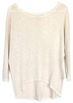 Moa Moa Taupe Tan Cream Textured Knit Long Sleeve Shirt Size S image 1