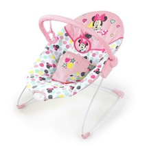 Baby Bouncer Chair Vibrating Seat Removable Toy Bar Infant Minnie Mouse ... - $61.78