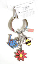 Coach Garden Mix Key Ring Fob Chain New with Tag - $42.00