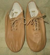 Bloch S0403L Ultraflex Caramel Jazz Shoes Leather Size 5.5N 5.5 Narrow N - $18.48