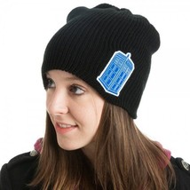 Doctor Who Tardis patch Logo Licensed Slouch Beanie Hat, NEW UNWORN - $19.26
