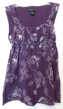 BCBG Max Azria Embroidered Purple Knit Sleeveless Top Tank Size M BCBGMA... - $22.50