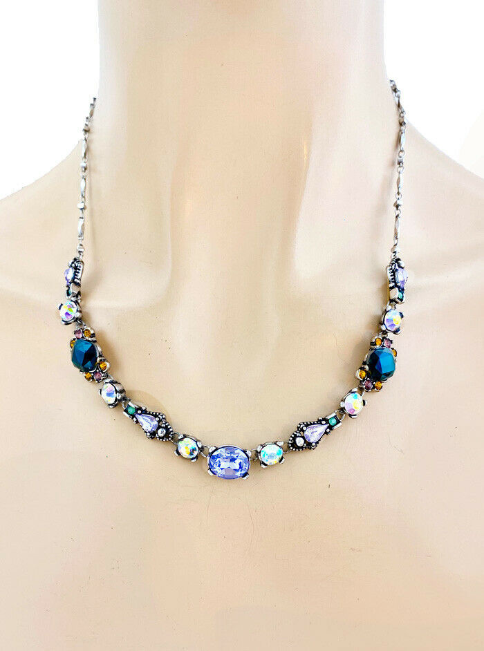 Primary image for Designer Inspired Necklace Earrings Neutral Shades Rhinestones Costume Jewelry
