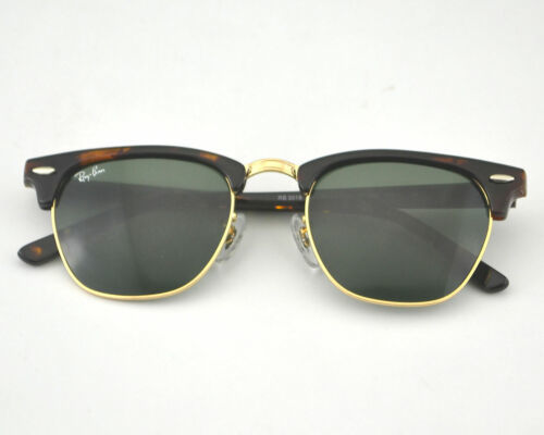 Nuevo Ray-Ban Clubmaster Rb3016 W0366 Imitación Carey/ Dorado con / Verde