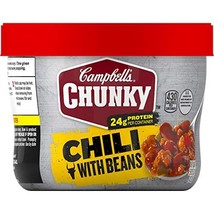 Campbell's Chunky Chili with Beans, 15.25 oz. Microwavable Bowl - $21.68