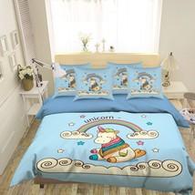 3D Cute Unicorn Bed Pillowcases Quilt Duvet Cover Set Single Queen King Size AU - $90.04+