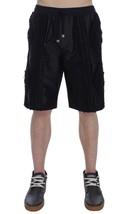 New $1060 Dolce & Gabbana Men Black Silk Torero Shorts It56-Xxl - $322.12