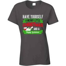 Have A Merry Christmas And A Happy Lockdown Ladies T Shirt image 4