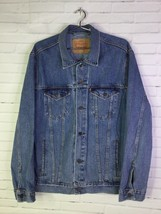 Levi's 72334 Mens XL Classic Denim Jean Trucker Jacket Cotton Button Fro... - $63.11