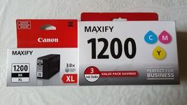 Genuine Canon Maxify 1200 / PGI-1200 BK(XL) C M Y Ink Cartridges - $64.99