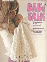 Baby Talk Tiny Treasures to Knit & Crochet 1973 Leisure Arts Leaflet 4 V... - $7.99