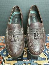 Men's H.S Trask Classic Bison Leather Moc Sewn Tassel Loafer Sz. 9M MINTY! - $56.13