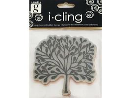 Hampton Art Studio G i-cling Desert Tree Rubber Cling Stamp #IC0010