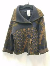 Women Etro Milano Wool Blend Graphic Cardigan Sweater Jacket 40 Made in Italy image 1