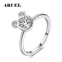 Hot Crystal Charm Girls Party Miky ring for women wedding bague Trendy a... - $7.43