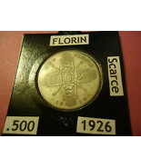1926 SCARCE UK FLORIN COIN  ** 50% SILVER CONTENT**    > S&H + C/S  - $5.94