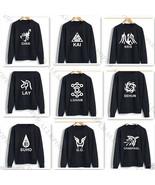 KPOP EXO Sweater 12 Members Logo Luhan Baekhyun Chanyeol Hoodie Pullover... - $11.89