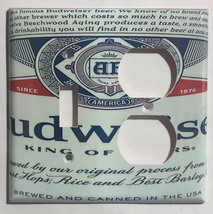 Budweiser Beer Bud Cans Light Switch Outlet Wall Cover Plate Home Decor image 5