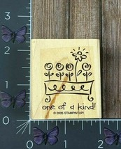 Stampin' Up! One Of A Kind Flowers Garden Box Rubber Stamp 2005 Wood #W45 - $2.23