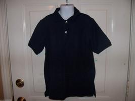 French Toast Navy Blue Short Sleeve Shirt Size M Boy's EUC - $15.13