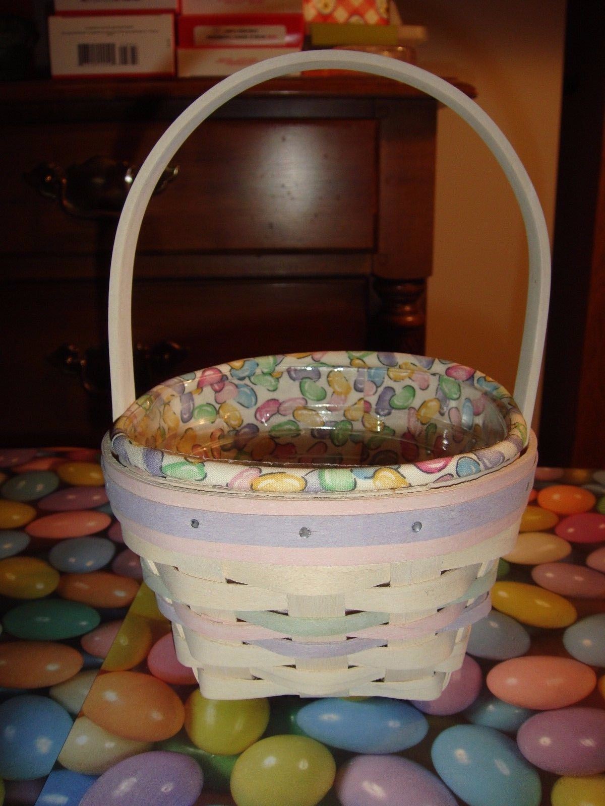 Primary image for Longaberger 2000 Small Whitewash Easter Basket Combo