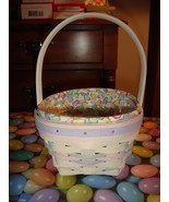 Longaberger 2000 Small Whitewash Easter Basket Combo - $31.99