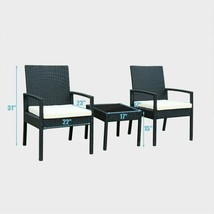 Outdoor Wicker Rattan Patio Furniture Set | 2 Single Chairs and 1 Coffee... - $129.01