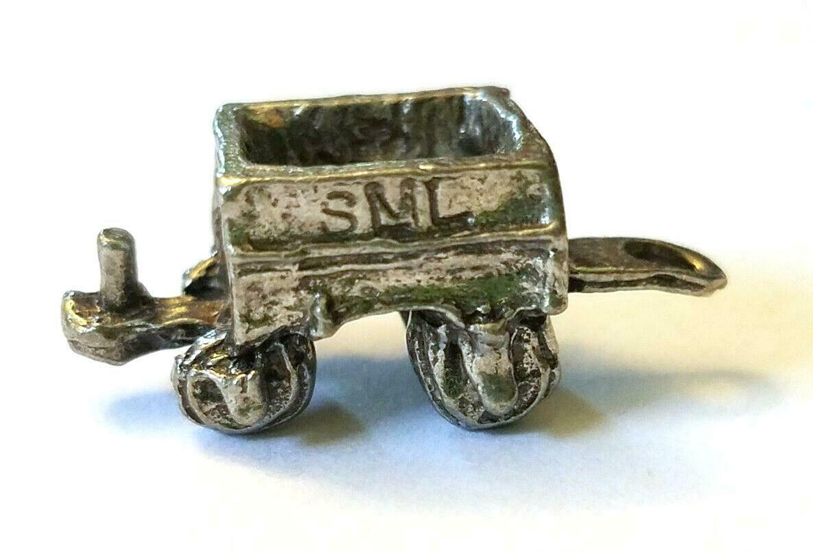 ORE CAR FIGURINE CAST WITH FINE PEWTER - Approx. 1 inch Long  (T156)