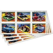 Hot Wheels High Speed Favor Stickers 24 Per Package Birthday Party Suppl... - $2.33