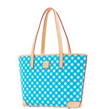 Dooney & Bourke BLUE Gingham Charleston Shopper Tote Pure Bag BGING0592 ... - $154.60