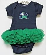 NCAA Notre Dame Fight Leprechaun Logo Tutu Navy Creeper SZ NB 2 Feet Ahe... - $26.99