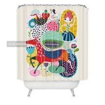 Sweetenlife Cartoon Shower Curtains Bathroom Cute Curtains Bath Waterproof Polye - $35.19