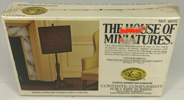 NEW The House of Miniatures Queen Ann Fire Screen Dollhouse No. 40021 SEALED - $2.97