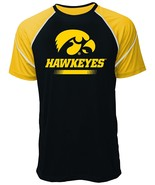 NCAA Iowa Hawkeyes Men's Contrast Stitch Tee, XX-Large, Black/Gold - $14.95