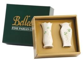 "Belleek Shamrock Set of Two Mini Vases, 4"" - $41.50"