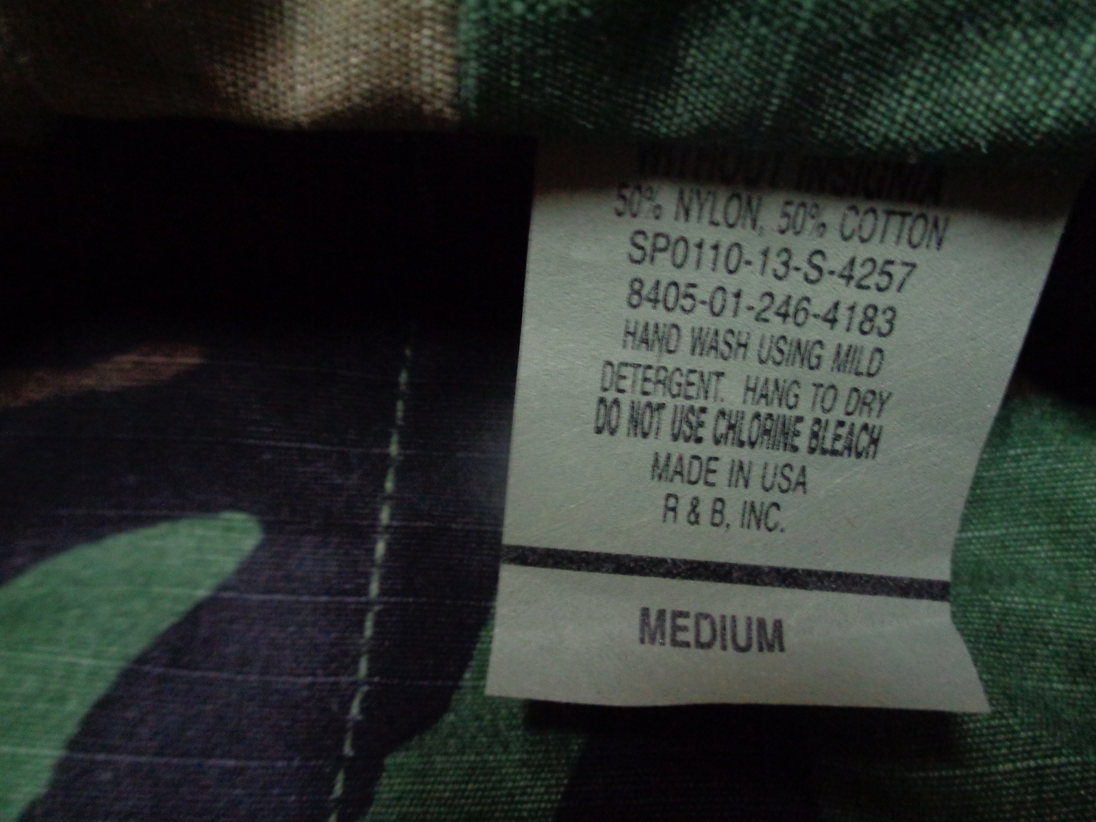 Camouflage Military Army Hat NWOT Made in USA Sz Medium