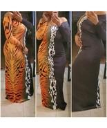 Multi-Animal Print Maxi Dress - $45.00