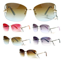 SA106 Womens Rimless Butterfly Vent Trim Rectangular Fashion Sunglasses - $9.85+