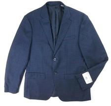 NEW MICHAEL KORS NAVY BLUE GINGHAM CHECKERED 100% WOOL SPORT COAT BLAZER - $115.52