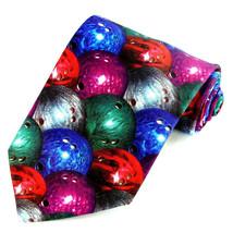 Bowling Balls Men's Necktie Ralph Marlin Bowler Gift Fashion Neck Tie - $27.67