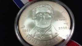 2009 Louis Braille Bicentennial Unciculated Silver Dollar - $23.47