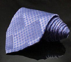 GEOFFREY BEENE Hand Made Polyester Purple Tie Diamond Necktie - $14.60