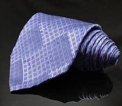 Geoffrey Beene Hand Made Polyester Purple Tie Diamond Necktie - $14.60