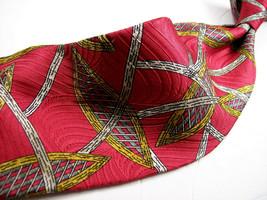 ALFANI -  Red TEXTURED Abstract  Mens 100 SILK Necktie s 9 3-19 - $9.99