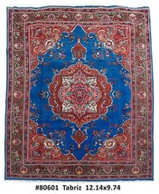 10x12 Tabriz Front Room Hand Knotted Persian Woolen Rug - $1,651.14