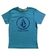 Volcom Size M Boys Blue Lino Stone Graphic Print T-Shirt - $7.99