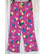 Victoria's Secret Sz Small Pink Polka Dot Flannel Lounge Pants Pajamas C... - $9.49
